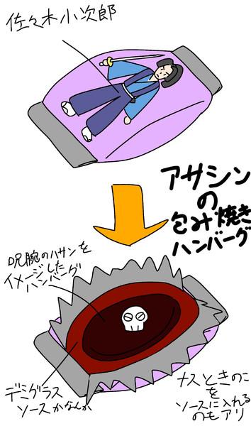 アサシンの包み焼きハンバーグ