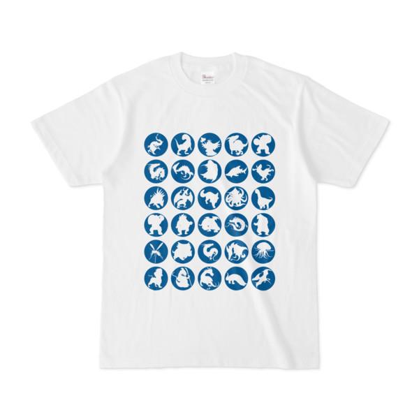シンプルデザインTシャツ C.MONSTER(BLUE)