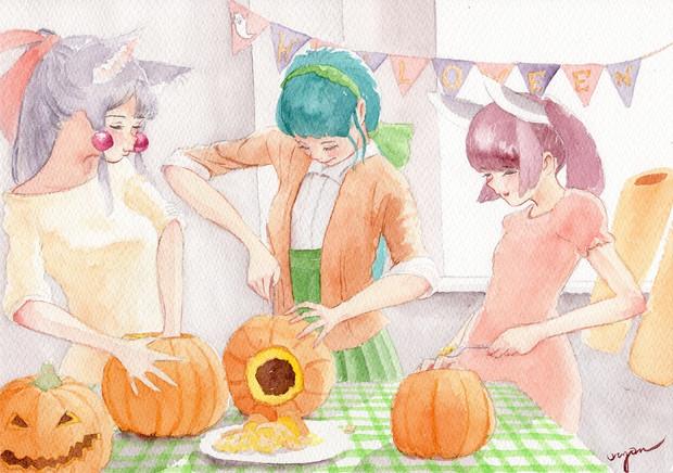 東北三姉妹「今夜のハロウィン準備」