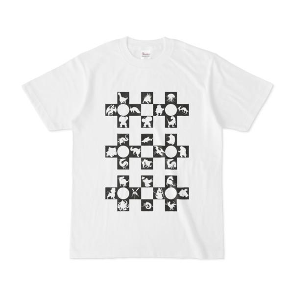 シンプルデザインTシャツ Cr/MONSTER(BLACK)