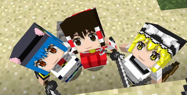 【Minecraft】リトルメイド 東方キャラの顔グラフィックテクスチャ変更2