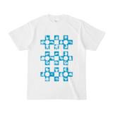 シンプルデザインTシャツ Cr/MONSTER(CYAN)