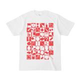 シンプルデザインTシャツ 四八シュプール(RED)