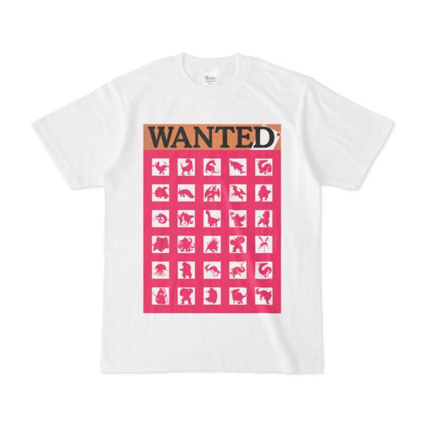 シンプルデザインTシャツ WANTED MONSTER(MAGENTA)