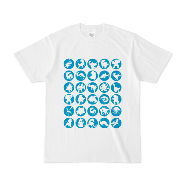 シンプルデザインTシャツ C.MONSTER(CYAN)