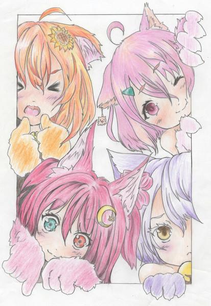 猫耳の4人