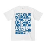 シンプルデザインTシャツ 四八シュプール(BLUE)