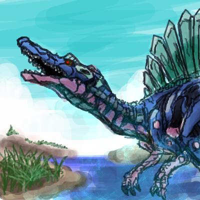 スピノサウルス型ゾイド野生体想像図