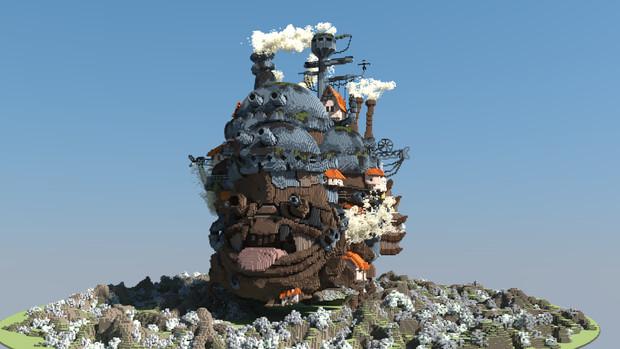 マイクラでハウルの動く城