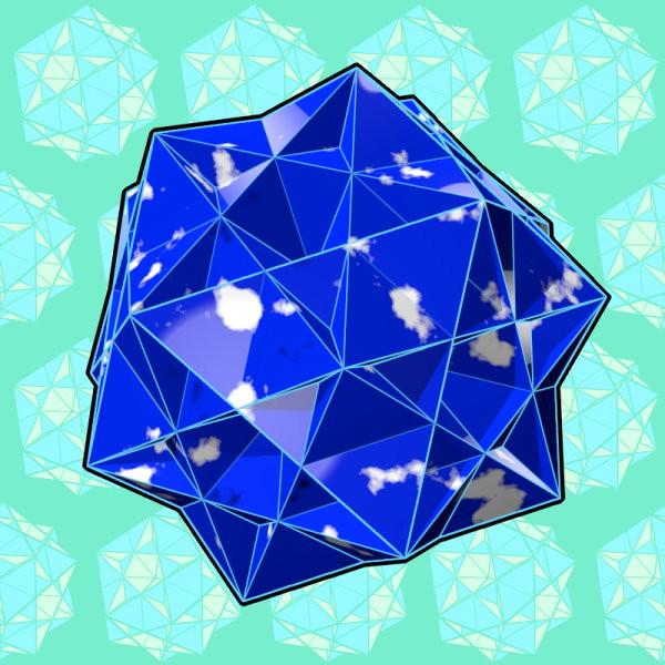 大二重三角二十・十二面体の瑠璃