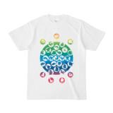 シンプルデザインTシャツ M_Ladybird(RAINBOW)