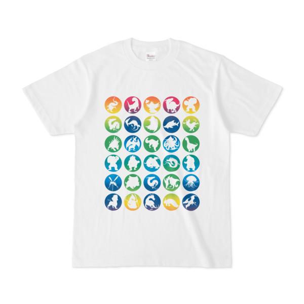 シンプルデザインTシャツ C.MONSTER(RAINBOW)