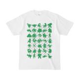 シンプルデザインTシャツ NET35☆MONSTER(GREEN)