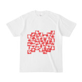 シンプルデザインTシャツ WAVE・MONSTER(RED)