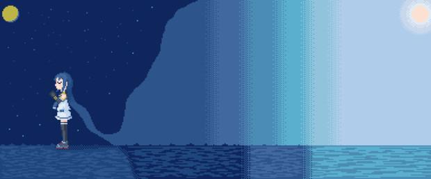 【艦これ】五月雨16色ドット絵習作