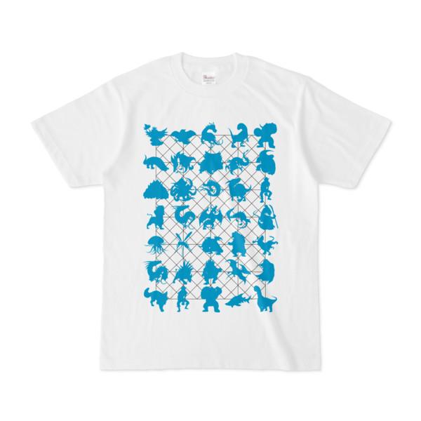 シンプルデザインTシャツ NET35☆MONSTER(CYAN)