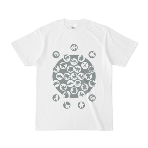 シンプルデザインTシャツ M_Ladybird(GRAY)