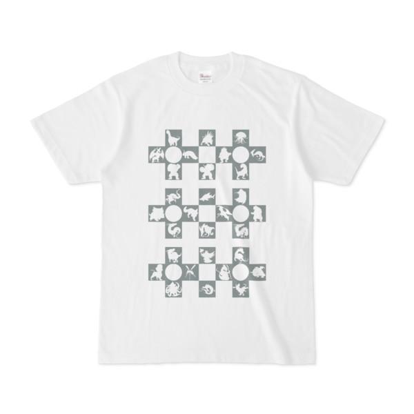 シンプルデザインTシャツ Cr/MONSTER(GRAY)