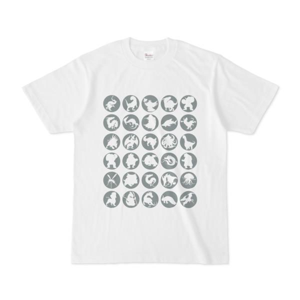 シンプルデザインTシャツ C.MONSTER(GRAY)