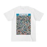 シンプルデザインTシャツ TANKER_300(CYAN)