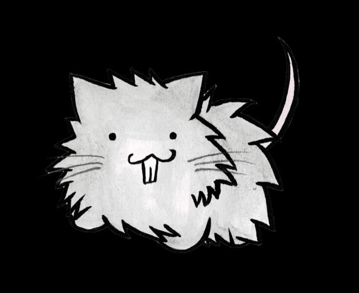 ネコの真似をするネズミ