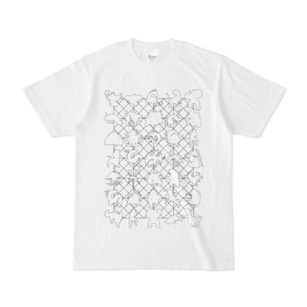 シンプルデザインTシャツ NET35☆MONSTER(WHITE)
