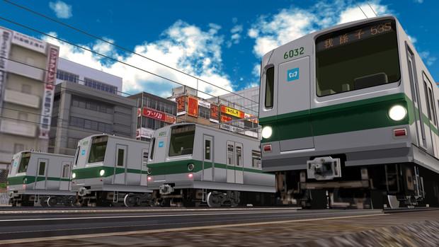 【MMD鉄道】営団地下鉄6000系5次車B修車 (改造品)