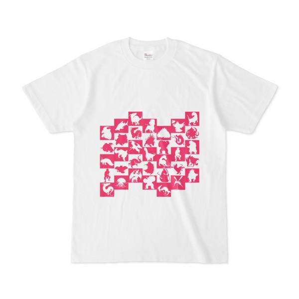 シンプルデザインTシャツ WAVE・MONSTER(MAGENTA)