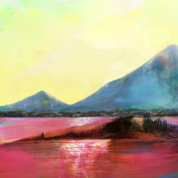 真っ赤な池