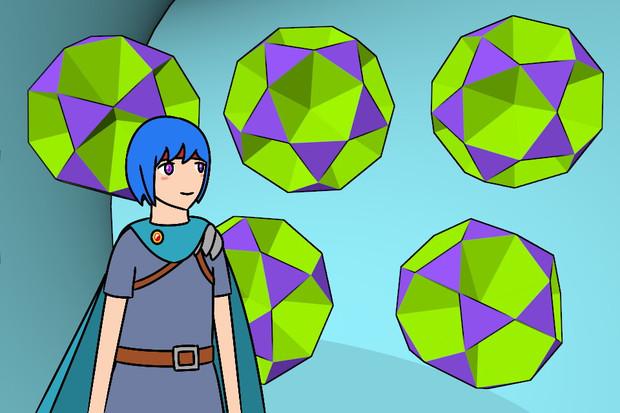 小二十面半十二面体と少年戦士