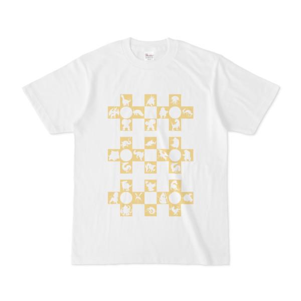 シンプルデザインTシャツ Cr/MONSTER(KHAKI)