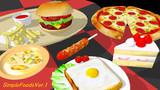 【配布】食べ物モデル6種類【MMD】