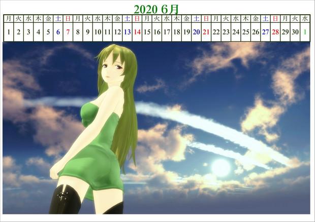 2020年の六導玲霞カレンダー!・6月