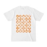 シンプルデザインTシャツ C.MONSTER(ORANGE)