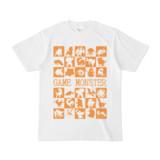 シンプルデザインTシャツ GAME MONSTER(ORANGE)