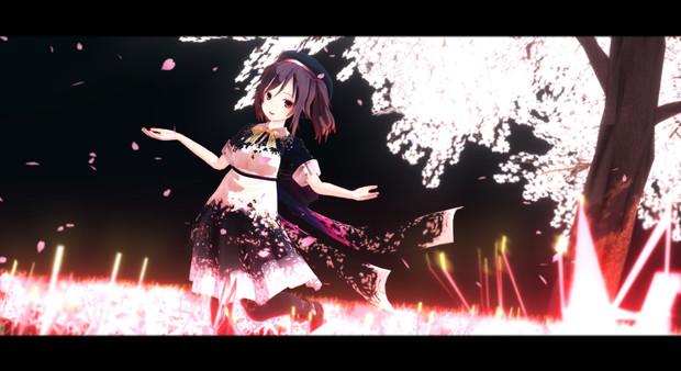 冥界夜桜と侍女悪魔