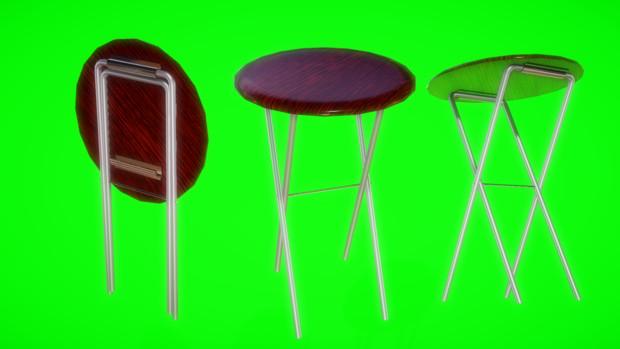 【MMDアクセサリ配布】折りたためる 丸椅子