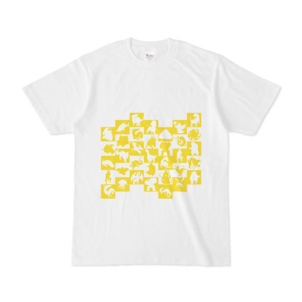 シンプルデザインTシャツ WAVE・MONSTER(YELLOW)