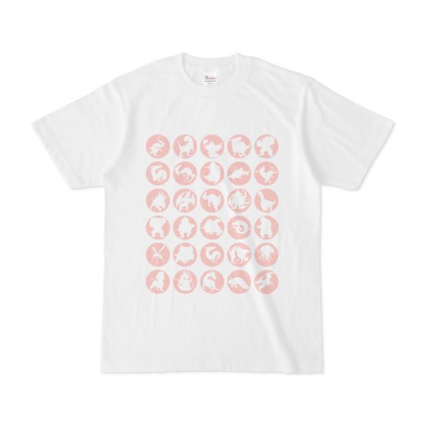 シンプルデザインTシャツ C.MONSTER(PINK)