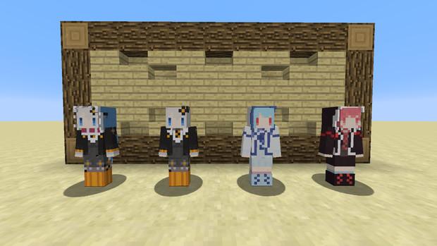 【Minecraft】ボイロスキンパック1