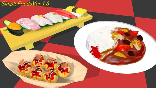 【追加配布】食べ物モデル3種類【MMD】