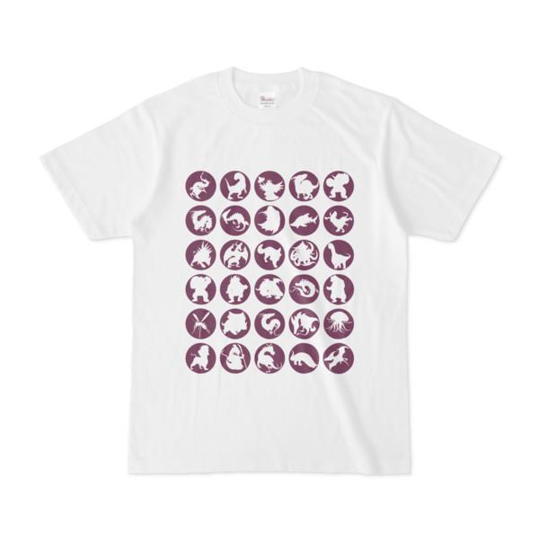 シンプルデザインTシャツ C.MONSTER(PURPLE)