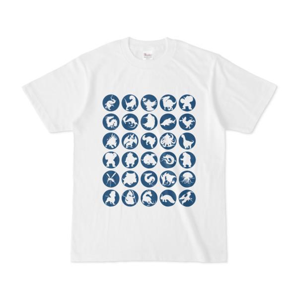 シンプルデザインTシャツ C.MONSTER(NAVY)
