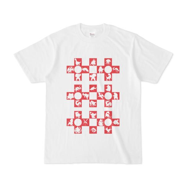 シンプルデザインTシャツ Cr/MONSTER(CRIMSON)