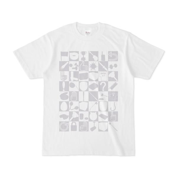 シンプルデザインTシャツ 四八シュプール(SILVER)