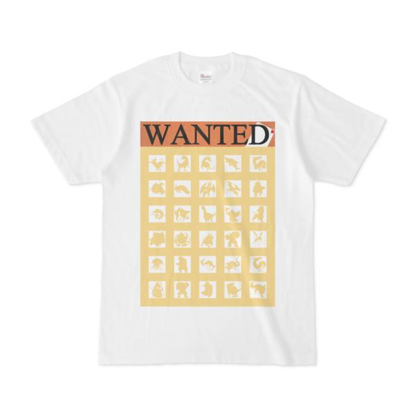 シンプルデザインTシャツ WANTED MONSTER(KHAKI)