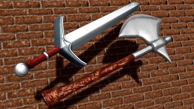 【配布】剣と斧【シェーダー付き】
