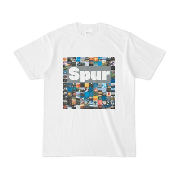 シンプルデザインTシャツ Spur_BOX104(GRAY)