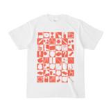 シンプルデザインTシャツ 四八シュプール(TOMATO)