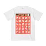 シンプルデザインTシャツ WANTED MONSTER(TOMATO)